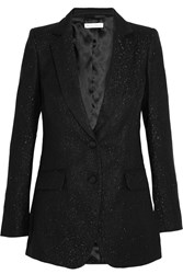Bella Freud Glittered Corduroy Blazer Black