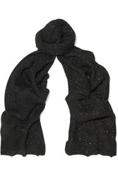 Sandro Metallic Knitted Scarf Black