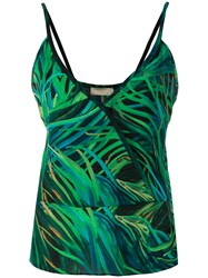 Elie Saab Printed Cami Top Green