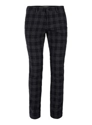 Topman Black And White Check Skinny Chinos