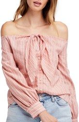 Urban Outfitters 'S Free People Hello There Beautiful Shirt Orange