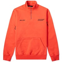 Olaf Hussein Ccc Zip Mock Sweat Red