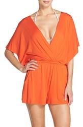Trina Turk Women's Cover Up Romper Flame