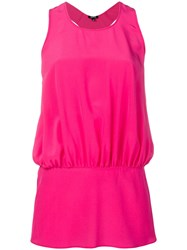 Aspesi Gathered Racer Back Vest Pink