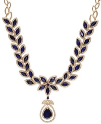 Effy Collection Sapphire Petals By Effy Sapphire 14 Ct. T.W. And Diamond 2 3 4 Ct. T.W. Pendant Necklace 14K Gold Blue