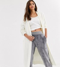 Micha Lounge Relaxed Maxi Cardigan With Hood Grey