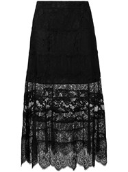 Mcq By Alexander Mcqueen Lace Skirt Black
