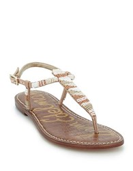 Sam Edelman Gail Beaded Thong Sandals White Nude