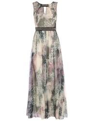 Chase 7 Graphic Printed Maxi Dress Green