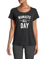 Marc New York Namaste All Day Rolled Sleeve Tee Black