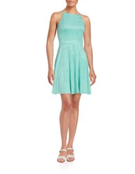 Design Lab Lord And Taylor Faux Suede Halter Dress Aqua