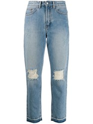 Zadig And Voltaire Distressed Straight Jeans Blue