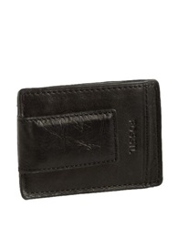 Fossil Magnetic Multi Card Leather Wallet Black