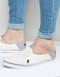 Rock And Religion Slip On Plimsolls White