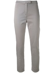 Eleventy Super Skinny Cropped Trousers Women Cotton Spandex Elastane 28 Nude Neutrals