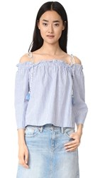 Club Monaco Janou Top Blue White