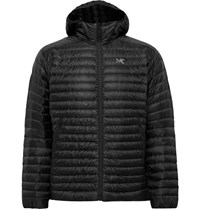 Arc'teryx Cerium Sl Packable Quilted Shell Hooded Down Jacket Black