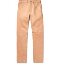 Helmut Lang Leather Trousers Sand