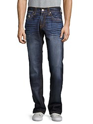 True Religion Skinny Red Whiskered Jeans Acid Wash Deep Blue