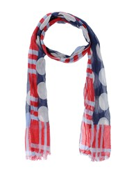 Daniele Alessandrini Accessories Oblong Scarves Women Dark Blue