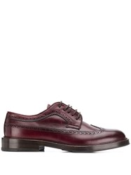 Brunello Cucinelli Brogue Detail Derby Shoes Red