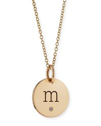 Zoe Chicco Personalized Name Disc Pendant Necklace With Diamond Gold