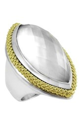 Lagos 18K And Sterling Silver Venus Mother Of Pearl Ring Size 7 No Color