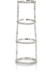 Fallon 'Tiered Pave Slice Rings' Colorless