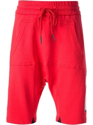 Frankie Morello Track Shorts Red