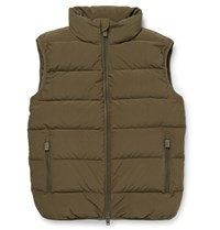Aspesi Quilted Shell Down Gilet Green