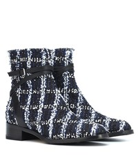 Jimmy Choo Exclusive To Mytheresa Harris 35 Tweed Ankle Boots Blue