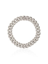 Shay 18Kt Gold Essential Diamond Link Bracelet Silver