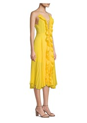 Delfi Collective Gwen Pleated A Line Dress Yellow