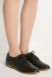 Forever 21 Classic Faux Leather Oxfords Black