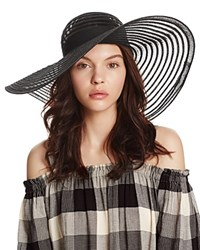 Aqua Floppy Sun Hat With Ribbon Trim 100 Exclusive Black
