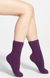 Women's Nordstrom 'Butter' Slipper Socks Purple Striking