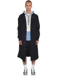 Ami Alexandre Mattiussi Hooded Parka Coat Black