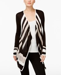 Inc International Concepts Colorblocked Cascade Cardigan Only At Macy's Black