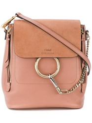 Chloe Medium Faye Backpack Nude And Neutrals