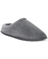Club Room Men's Terry Slip On Slippers Grey