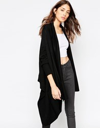 Religion Unite Cardigan In Cashmere Blend Jet Black