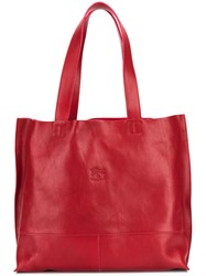 Il Bisonte Shopper Tote Bag Red