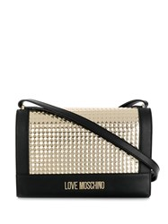 Love Moschino Rock Studded Shoulder Bag Black
