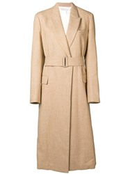 Victoria Beckham Waisted Trench Coat Nude And Neutrals