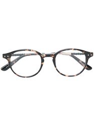 Bottega Veneta Eyewear Round Frame Glasses Multicolour