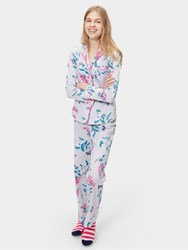 Joules Astrid Pyjama Set Silver Hedgerow