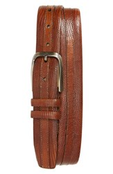 Mezlan Lizard Leather Belt Honey