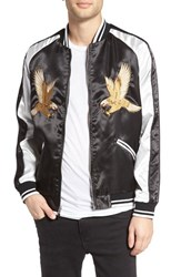 The Rail Men's Reversible Embroidered Souvenir Jacket Black Tiger