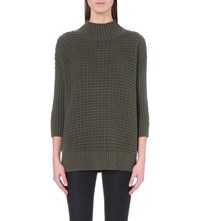 French Connection Mozart Knitted Jumper Khaki