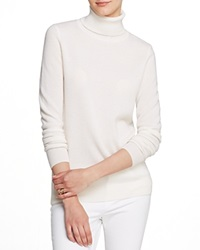 C By Bloomingdale's Turtleneck Cashmere Sweater Winter White